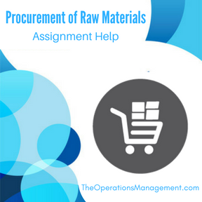 Procurement of Raw Materials Assignment Help
